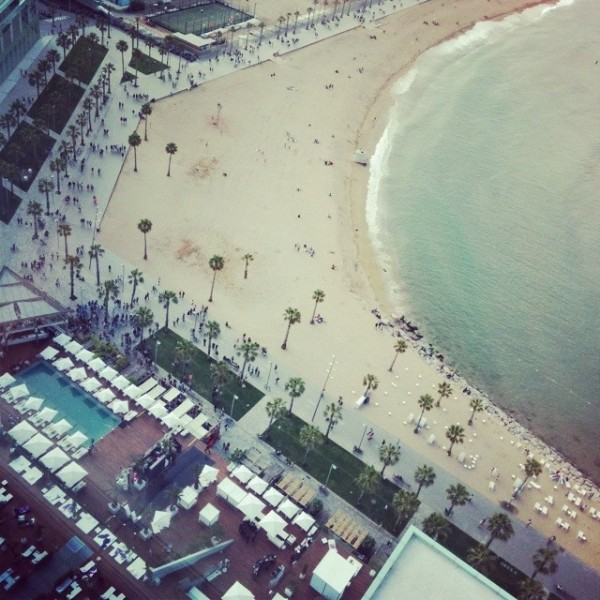 The beach from the W Hotel
