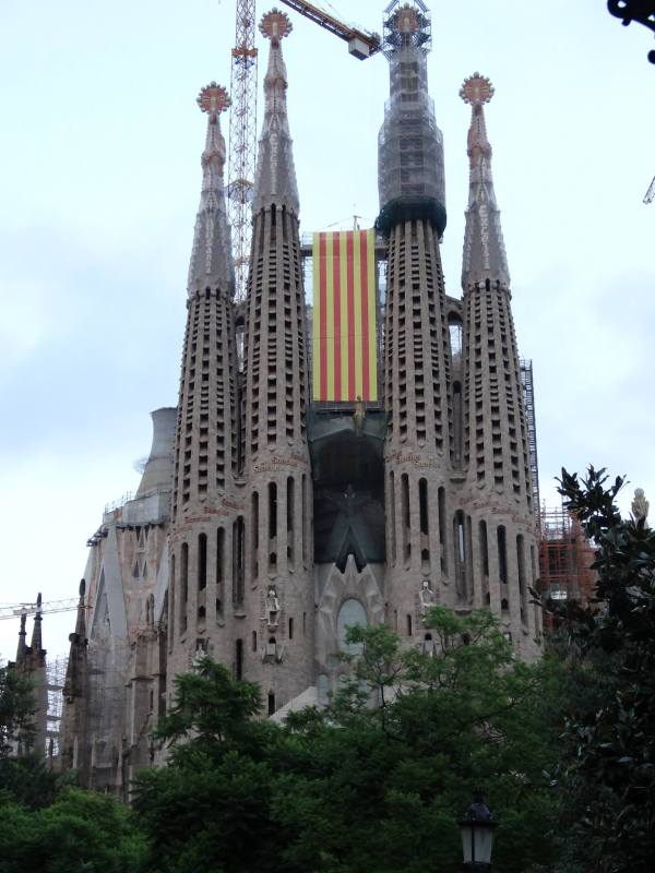 The Sagrada Familia on Catalonia's National Day.